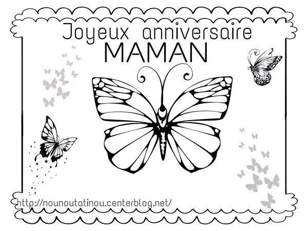 Coloriage anniversaire maman - Dessin pour maman ...