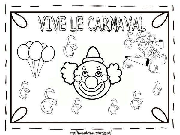Carnaval - Carnaval coloriage ...