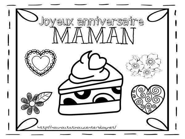 coloriage anniversaire maman. Black Bedroom Furniture Sets. Home Design Ideas
