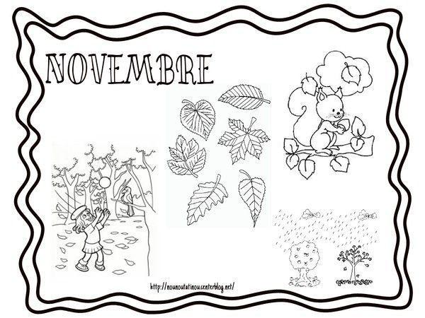 Coloriage des mois - Coloriage novembre ...